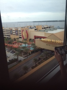 Another Great view from our room at the Golden Nugget Biloxi atlantago2girl; travel; Biloxi Mississipp; gulf coasti; golden nugget cassino