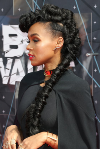 Janelle Mone's hair was errthang  (English: everything)