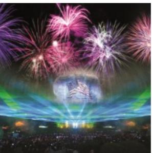 Fireworks at Stone Mountain Park