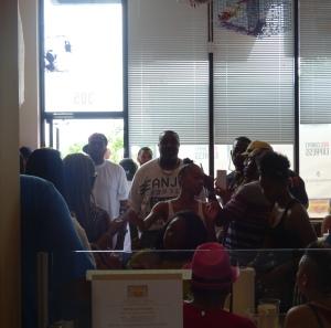 Grand Opening Crowd at Benzino's Crab Shack