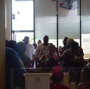 Grand Opening Crowd at Benzino's Crab Shack