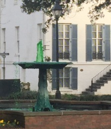 The fountains are Green for St Patricks Day!